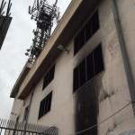 Cabina Telecom danneggiata