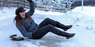 Nessun risarcimento per scivolamento sul ghiaccio
